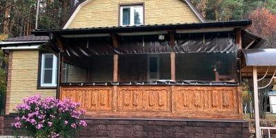 Мягкие окна для террас в Коломне